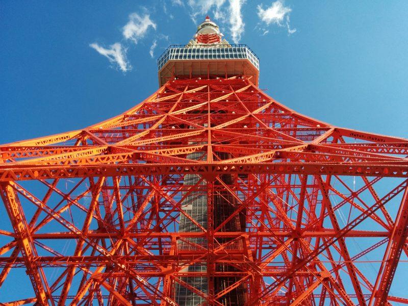 東京タワーフットタウン屋上から。