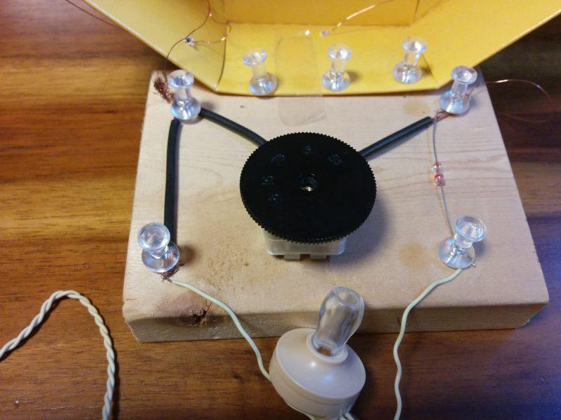 ゲルマニウムラジオ うちの配線(無駄が多い)