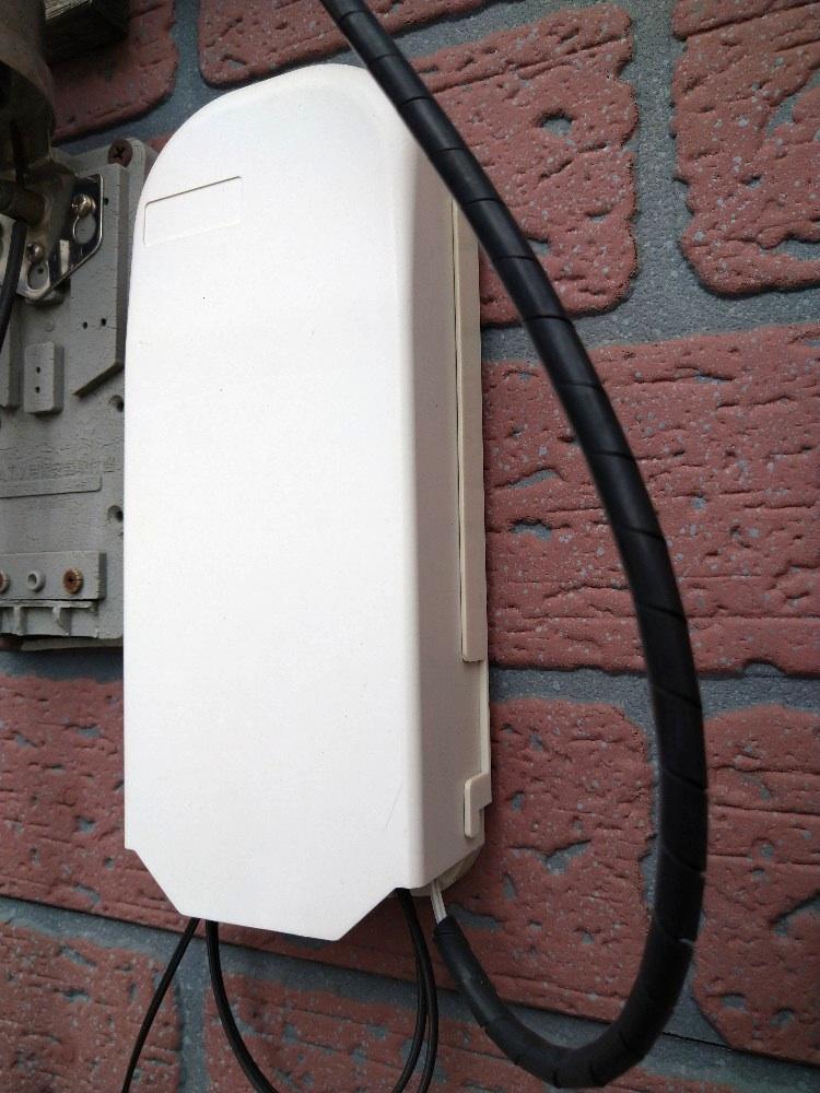 NURO光の取り付け工事(宅内工事で壁にくっつける)