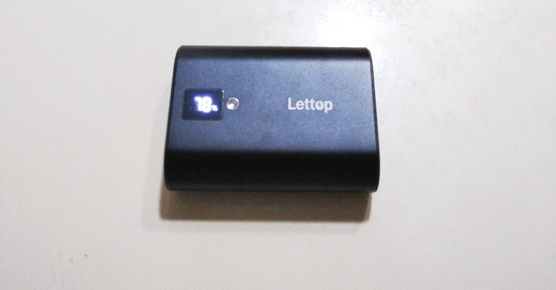 Lettopのモバイルバッテリー